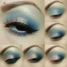 Cotton Candy eye makeup tutorial by #veronicaguilarr using Motives cosmetics!