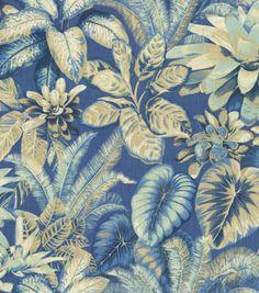 Home Decor Print Fabric-Tommy Bahama Botanical Bliss Evening Sky, , hi-res