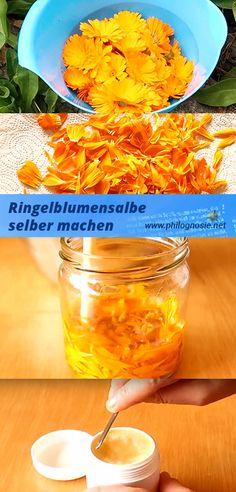Ringelblumensalbe kann man ganz einfach selbst herstellen / machen. Im Artikel stellen wir mehrere Rezepte für die Ringelblumensalbe vor - mit eigenem Video.
