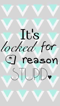 Its Locked for a reason stupid