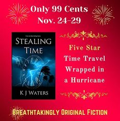 For a limited time, Stealing Time is on sale for 99 cents. The first book in the breathtakingly original time travel series follows Ronnie during Hurricane Charlie as she is sent back in time to London in the eighteenth century. Will she make it back to 2004 before they hang her as a witch for acting like a modern woman?