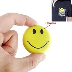 Mengshen HD Mini Spy Smile Face Badge Wearable Hidden Camera Cool Spy Gadget Mini DV DVR Camcorder Video Recorder ** You can get more details by clicking on the image. (This is an affiliate link) Smiley Happy, Happy Smile, Spy Gadgets, Cool Gadgets, Tech Gifts For Men, Baby Tech, Pen Camera, Hidden Spy Camera, Digital Video Recorder