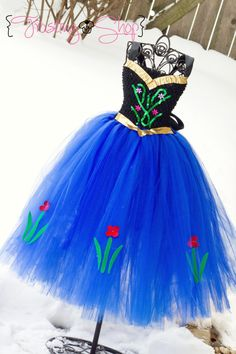 RESERVED FOR NICOLE Princess Anna Inspired Tutu by FrostingShop
