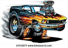 468 Best Cartoon Muscle Cars Images Drawings Of Cars Car Drawings