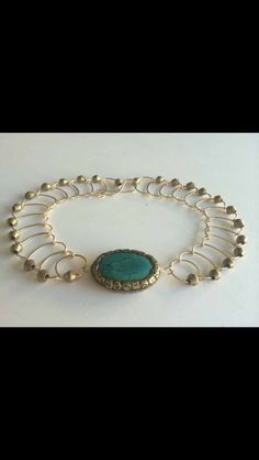 A personal favorite from my Etsy shop https://www.etsy.com/listing/231961217/brass-encased-tibetan-turquoise-choker