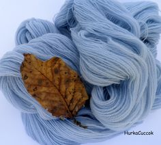 Hand-dyed with red cabbage.