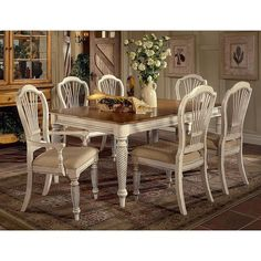 Wilshire 7 Piece Rectangle Dining Set With Side Chairs   Overstock™  Shopping   Big