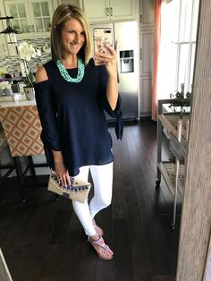 Dress Up Your Favorite Cold Shoulder! Perfect Summer Outfit For a Night Out!