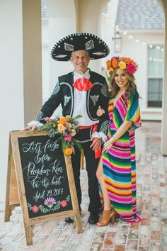 Mexican birthday parties - Let's Taco 'Bout Getting Married, Backyard Engagement Fiesta – Mexican birthday parties Mexican Birthday Parties, Mexican Fiesta Party, Fiesta Theme Party, Taco Party, Theme Parties, Fiesta Outfit, Mexican Outfit, Fiesta Dress, Mexico Party