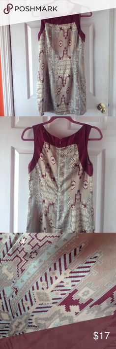 Ikat Patterned A-Line Dress F21 Love21 Contemporary • worn once • soft satin material • pretty pattern Forever 21 Dresses