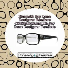 These amazing ladies #ReadingGlasses come in a #stylish narrow #frame Black and Silver design that is popular the world over at the moment. Each pair of Kenneth Jay Lane reading glasses comes with a microfiber case that also doubles as a cleaning cloth. Shop at: http://www.trendyglasses.net/kenneth-jay-lane-designer-readers-crph603/