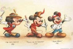 The evolution of Mickey