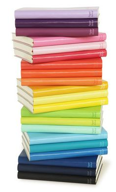 Books..in all the colors of the rainbow