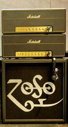 Jimmy Page Marshall half stack.