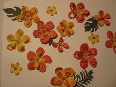 Having fun with Botanical Blooms flowers and leaves Stamp set. Love these! Made by Debbie Reed