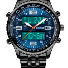 Duel Dial Premium Blue Watch | Gift Ideas for men from the Casual Wear Shop | Gifts for Guys | Accessories for men