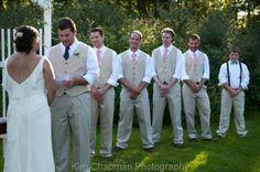 Bride, Groom and Groom's men