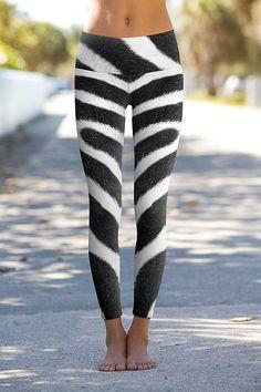 Zebra Skin - Printed Performance Leggings