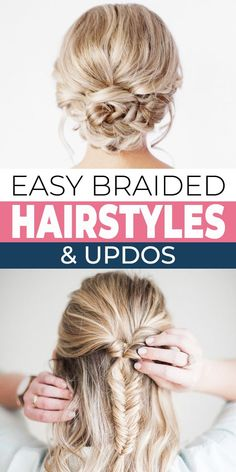 If you are looking for cute summer hairstyles for long hair, we've got the perfect solution for you… braided updos! Boho and trendy, romantic or wispy, all these hairstyle tutorials will get your hair up off your neck and face, but still look awesome. #hairstyles #updos #braidedupdos #braidedhairstyles #bohohair #hair Braided Hairstyles Updo, Fancy Hairstyles, Braided Updo, Down Hairstyles, Summer Hairstyles, Updos, Wedding Hairstyles, Braided Bun Tutorials, Hairstyle Tutorials