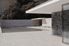 Barcelona Pavilion. Rebuilt in Barcelona, Spain. Originally built for the World Fair of 1929. Ludwig Mies van der Rohe