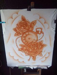 Nuevo modelo de camiseta, aerografia 100%, visita mi blog ; https://kustompainting.blogspot.com