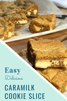 Absolutely delicious Caramilk Cookie Slice, another recipe in my caramilk creations. This one is the best so far, definitely give this a try. Caramel Recipes, Chocolate Recipes, Biscoff Recipes, Baking Recipes, Cookie Recipes, Dessert Recipes, Cadbury Recipes, Yummy Cookies, Crush Quotes