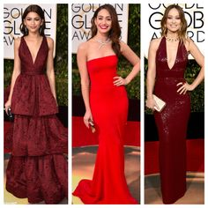 Red Carpet Radiant for these ladies. Such glamour and class. Our best dressed picks in red at the Golden Globes.