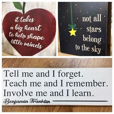 The school year is coming to a close and we have some inspirational teacher's gifts! Grad gifts too. Give us your custom… Teacher Inspiration, Grad Gifts, Benjamin Franklin, Retail Shop, It Is Finished, Inspirational, Teaching, School, Instagram
