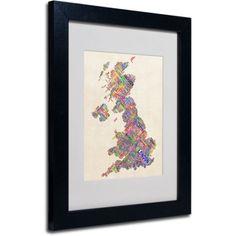 Trademark Fine Art United Kingdom I Matted Framed Art by Michael Tompsett, Black Frame, Size: 11 x 14