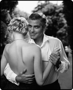 Gemma Ward and George Clooney as classic Hollywood stars Uncategorized - Movie's Closet