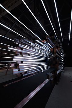 Coordination Asia's use of light transforms the digital landscape into reality - News - Frameweb Stand Design, Booth Design, Fritz Cola, Exhibition Space, Light Art, Ceiling Design, Retail Design, Installation Art, Art Installations