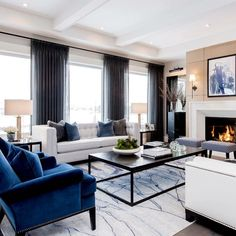 Nadire Atas on Elegant Living Rooms These beautiful furniture pieces helped make this room! We love being able to support our… Elegant Living Room, Formal Living Rooms, Living Room Sets, Home Living Room, Living Room Designs, Luxury Living Rooms, Living Room Drapes, Bedroom Drapes, Living Area
