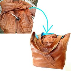 What did I use to sew this big shopper bag? A soft like a butter lamb leather jacket that was no longer in use, strong, blue fabric remnant and a leather belt. It is really the one of a kind and unrepeatable bag.