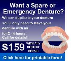 Cheap dentures 12 dollar dentures bridge in about 1 hour diy how to fix dentures please read our denture repair and reline guide before attempting to solutioingenieria Images