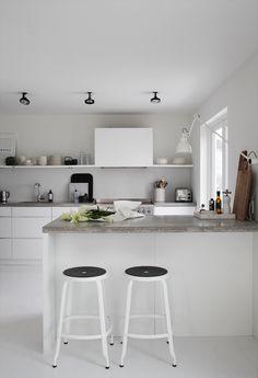 #White #grey #kitchen