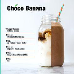 Here's a yummy blend full of chocolate peanut buttery goodness! // #Shakeology #digestivehealth #chocolatebanana