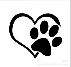 2016 Fashion Cute New Heart Paw Vinyl Stickers Decals Cars Auto Styling Decal…