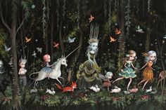 For my Fairy Tale/Folklore library, I finally have one of Mab's amazing prints heading my way. ♥ The Forest - Limited Edition signed and numbered Pop Surrealism Fine Art Print by Mab Graves -unframed
