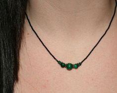 Malachite Necklace with Bali silvers!