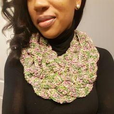 Crochet braided cowl