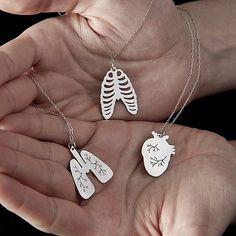 fun anatomy jewelry - want! Cute Jewelry, Jewelry Box, Jewelery, Jewelry Accessories, Unique Jewelry, Nerd Jewelry, Accesorios Casual, Nurse Gifts, Greys Anatomy