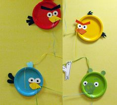 ideas para decorar una fiesta Angry Birds  sc 1 st  Pinterest & Angry Bird Birthday Party decorations.Make these pigs with green ...