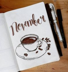 27 Thirst-Quenching Coffee bullet journal layout spread ideas – Bullet journal - To Have a Nice Day Bullet Journal August, Bullet Journal Novembre, Bullet Journal Cover Page, Bullet Journal School, Bullet Journal Notebook, Bullet Journal Ideas Pages, Journal Covers, Bullet Journal Inspiration, Bullet Journal Spread