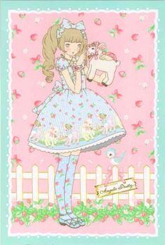 Angelic Pretty sheep garden postcard front