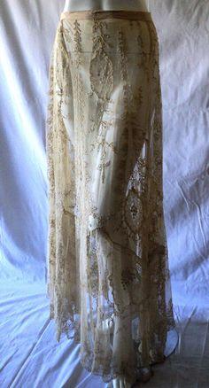 Edwardian Lace Skirt 1900s grape design