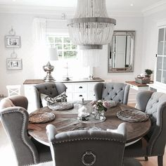esszimmer esstisch einrichtung im modernen landhausstil hampton style farmhouse style. Black Bedroom Furniture Sets. Home Design Ideas