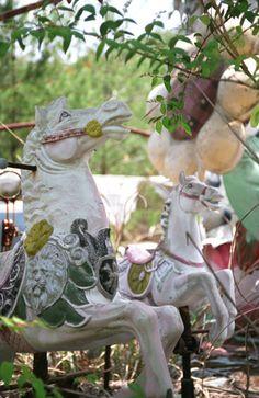 Kouga amusement park.  野生のお馬さんたち。