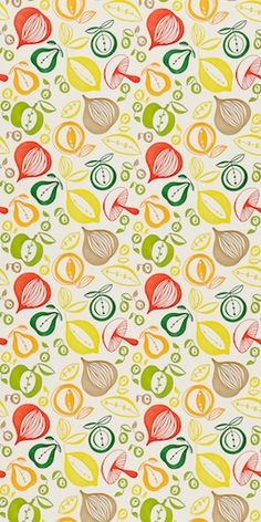 This is some wallpaper I could live with....in my kitchen. It would be nice as an accent too - applied on the wall behind the glass cabinets.
