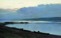 И.И. Левитан. Вечер н Волге. 1888. х.,м.