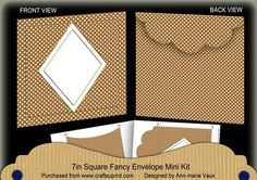 VTea Dotty Diamond 7x7inch Easy Envelope Mini Kit on Craftsuprint - Add To Basket!